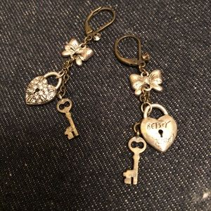 Betsey Johnson Rhinestone Dangle Earrings